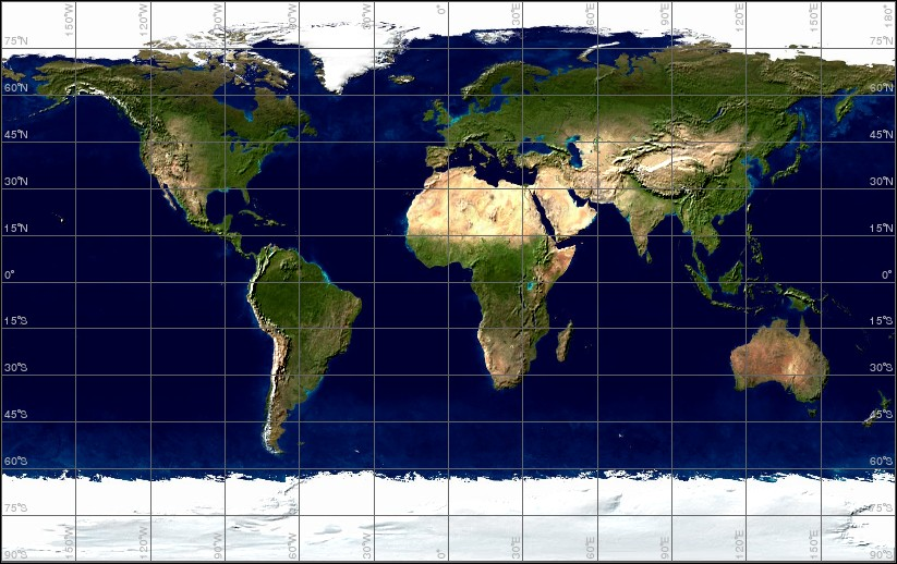 earth globe map. The map server also supports